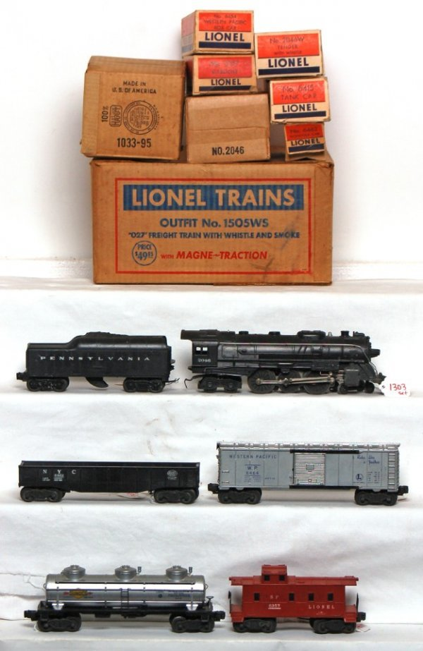1303: Boxed Lionel 1505WS freight train set, 2046... - 2