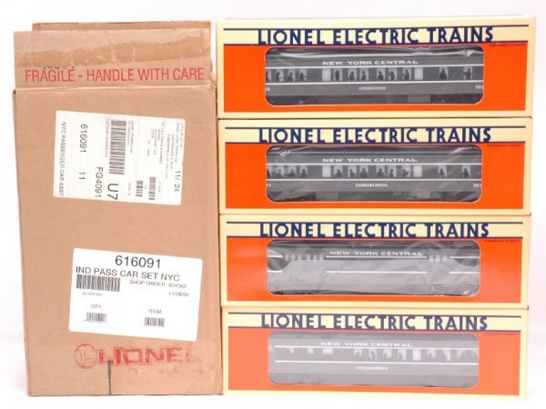 4: Lionel NYC Pass 16087 16088 16089 16090 MINT OB