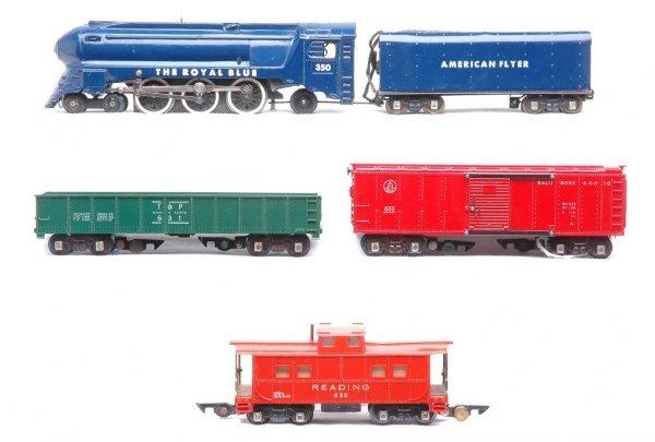 601: Am Flyer Royal Blue Set 350 633R 631 630