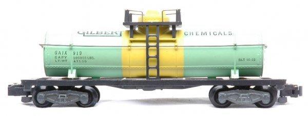 622: Am Flyer 910 Gilbert Chemical Tank Car