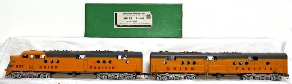 2: Overland Models brass Union Pacific E3 A-B units