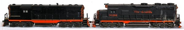 4: Two brass KTM Scale models GP diesel locos