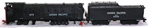 6: Brass Union Pacific rotary snowplow and tender
