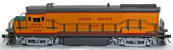 10: Brass O scale 2 rail Union Pacific diesel loco