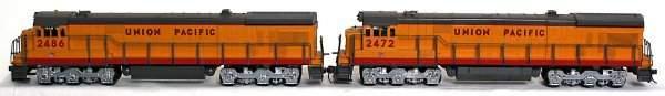 274: Two Weaver O scale 2 rail U.P. Alco diesels