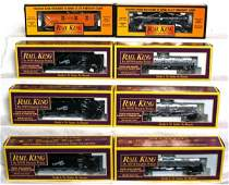 450 Eight MTH Rail King freight cars in OB