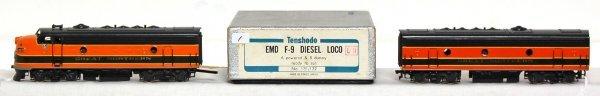804: Tenshodo brass Great Northern EMD F-9 A&B units