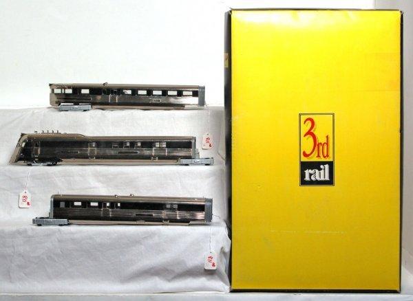 811: 3rd Rail brass Pioneer Zephyr train in OB 2 rail