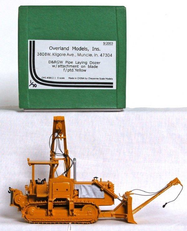 814: Overland Models brass D&RGW pipe dozer