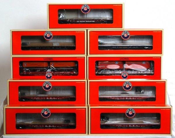 819: Nine Lionel flatcars in original boxes, 17583...