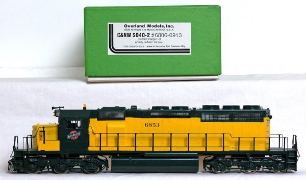 820: Overland Models brass C&NW SD40-2 O scale