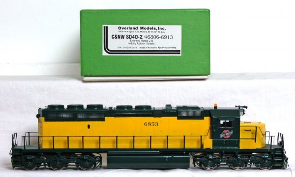 820: Overland Models brass C&NW SD40-2 O scale - 2