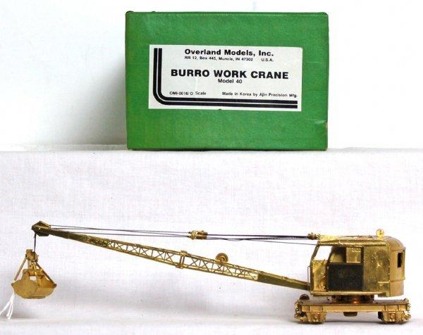 823: Overland Models brass Burro work crane in OB