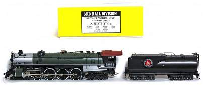 1064: 3rd Rail brass G.N. S-2 4-8-4 2 rail in OB