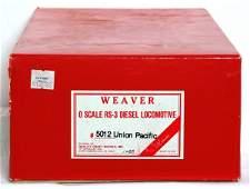 1111: Weaver 2 rail Union Pacific RS-3 diesel in OB