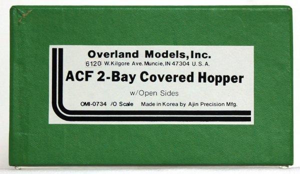 1263: Overland Models brass ACF 2 bay covered hopper