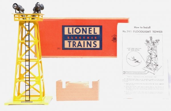 2007: Lionel 395 Yellow-Paint Floodlight Tower MINT OB