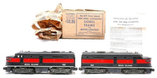 2008: Lionel 2031 Rock Island Alco AA Diesels MINT OBs