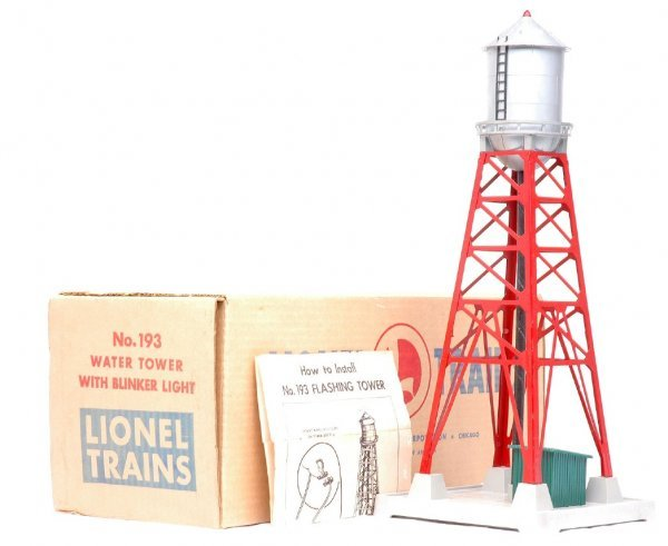 2009: Lionel 193 Red Water Tower Blinking Light LN OB