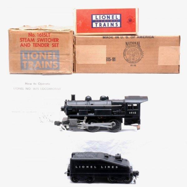 2014: Lionel 1615 0-4-0 Switcher 1615T Tender MINT OB