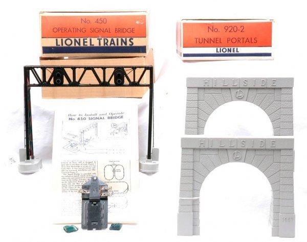 2019: Lionel 450 Signal Bridge 920-2 Portals MINT Boxed