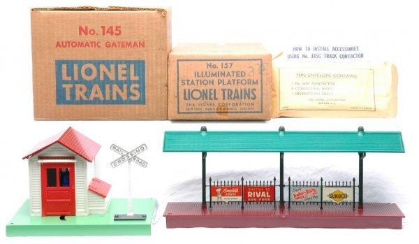 2023: Lionel 157 Station LN Boxed 145 Gateman MINT OB