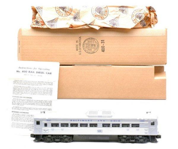 2024: Lionel 400 B & O Rail Diesel Car MINT Boxed