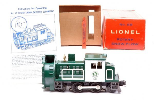 2053: Lionel 58 Rotary Snow Plow MINT Boxed