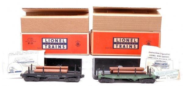 2065: Lionel 3461 3461-25 Operating Lumber Cars MINT OB