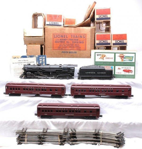 2175: Lionel 2148WS Hudson Pass Set MINT Set Boxed