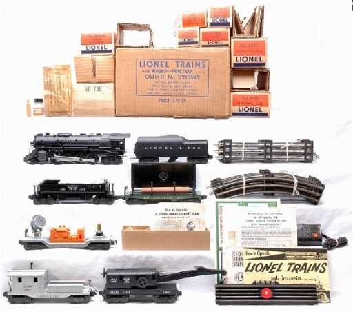 2309 Lionel 2213WS Freight Set 736 Steam MINT Boxed