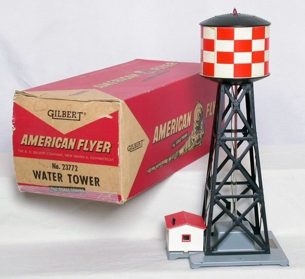 1007: American Flyer 23772 checkerboard water tower