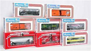 Eight American Flyer NASG freight cars