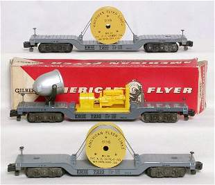 American Flyer 946 floodlight, two 936 cable reel