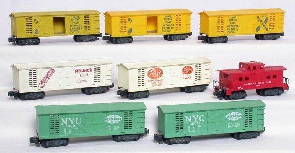 1327: American Flyer C2001 24052 24057 25081 boxcars