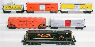 Lionel Rio Grande freight set, 8454, five cars