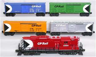 Lionel CP Rail freight set, 8854, four boxcars