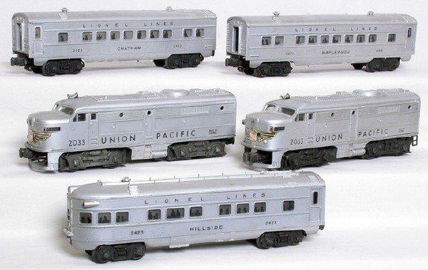 1406: Lionel 2033 silver UP Alco A-A, 2421 2422 2433