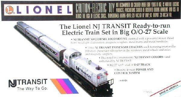 1407: Lionel 11828 NJ Transit passenger set, OB.