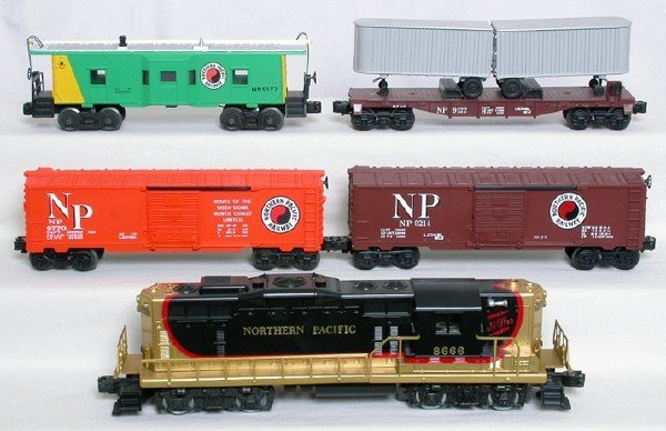 1408: Lionel Northern Pacific freight set, 8666, 4 cars