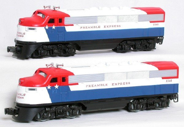 1410: Lionel 8568 Preamble Express F3 A-A set