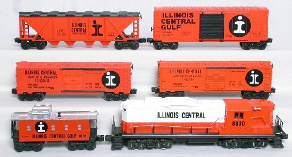 1412: Lionel Illinois Central freight set, 8030, 5 cars