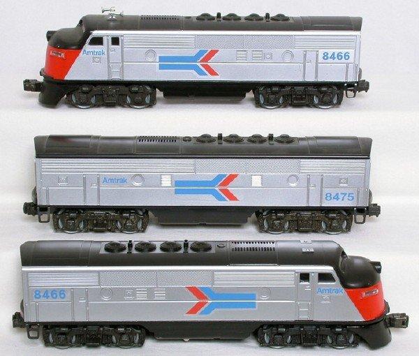 1416: Lionel Amtrak F3 A-B-A set 8466 8475