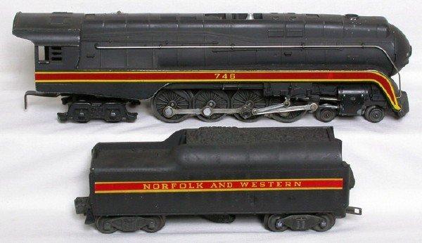 1417: Lionel 746 Norfolk Western 4-8-4, repro striping