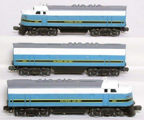 1418: Lionel Baltimore Ohio F3 A-B-A  8363 8364 8468