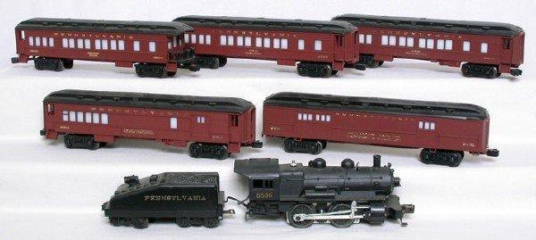 1420: Lionel Pennsylvania passenger set, 8506, 5 cars