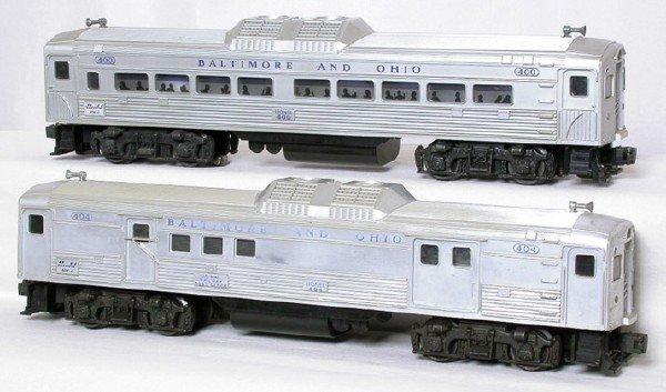 1423: Lionel 400 404 Baltimore Ohio RDC units