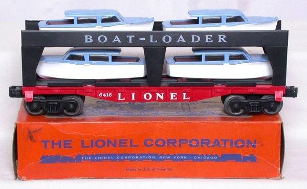 3004: Mint Lionel 6416 boat loader in OB