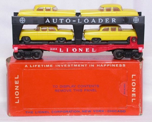 3005: Lionel light yellow with gray bumpers 6414 in OB