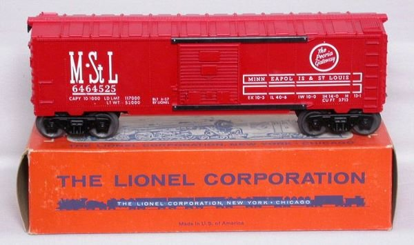 3009: Mint Lionel 6464-525 M&StL boxcar in box